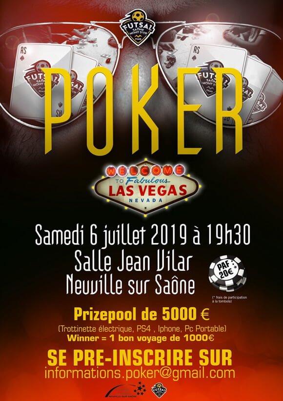 Tournoi de poker juillet 2019