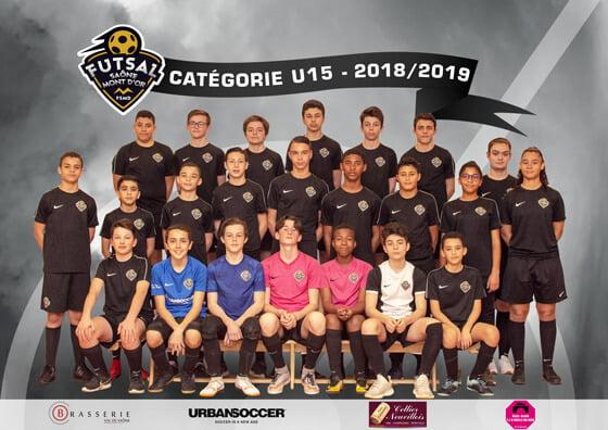 L'équipe U15 du Goal Futsal Club