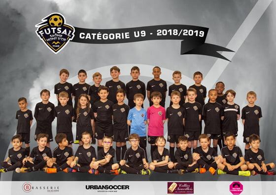 L'équipe U9 du Goal Futsal Club